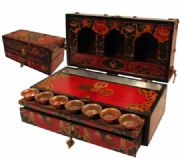 Luxurious Buddhist Altar Travel Box
